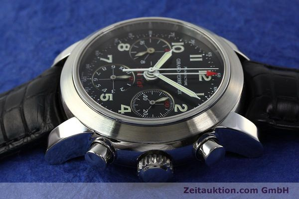 Used luxury watch Girard Perregaux Ferrari chronograph steel automatic Kal. 2528OU-781 Ref. 8090  | 142729 05