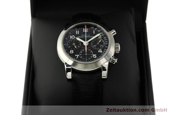 Used luxury watch Girard Perregaux Ferrari chronograph steel automatic Kal. 2528OU-781 Ref. 8090  | 142729 07