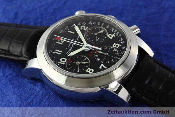 Used luxury watch Girard Perregaux Ferrari chronograph steel automatic Kal. 2528OU-781 Ref. 8090  | 142729 12