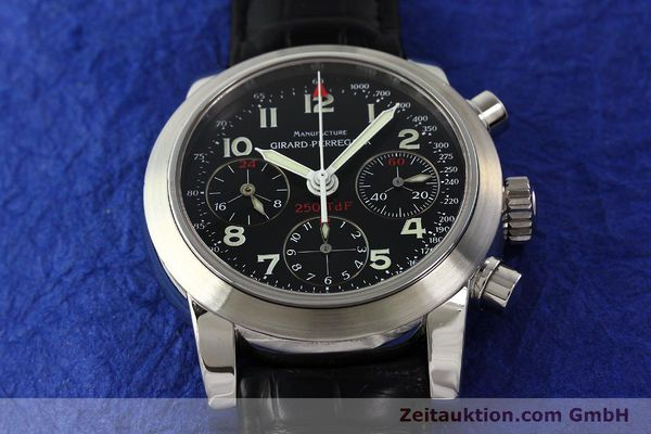 Used luxury watch Girard Perregaux Ferrari chronograph steel automatic Kal. 2528OU-781 Ref. 8090  | 142729 13