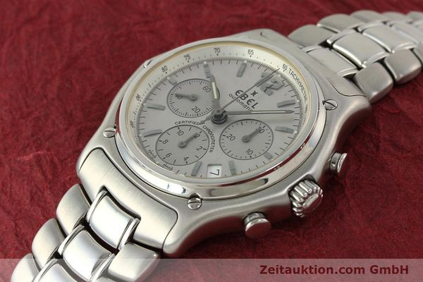 Used luxury watch Ebel 1911 chronograph steel automatic Kal. 137 Ref. E9137240  | 142731 01