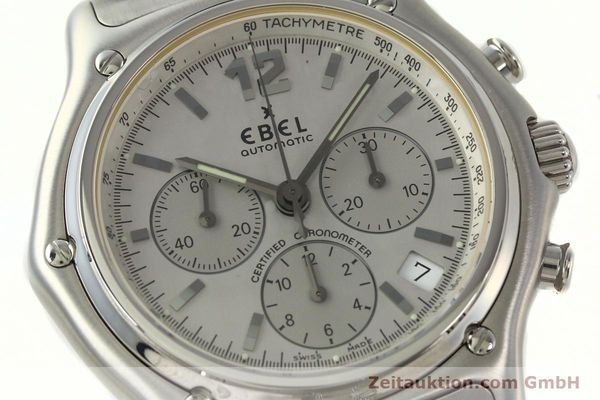 Used luxury watch Ebel 1911 chronograph steel automatic Kal. 137 Ref. E9137240  | 142731 02