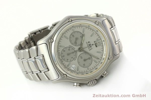 Used luxury watch Ebel 1911 chronograph steel automatic Kal. 137 Ref. E9137240  | 142731 03