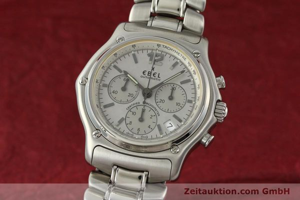 Used luxury watch Ebel 1911 chronograph steel automatic Kal. 137 Ref. E9137240  | 142731 04