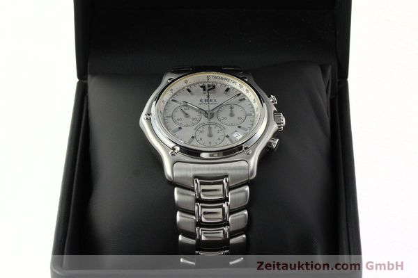 Used luxury watch Ebel 1911 chronograph steel automatic Kal. 137 Ref. E9137240  | 142731 07