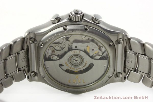 Used luxury watch Ebel 1911 chronograph steel automatic Kal. 137 Ref. E9137240  | 142731 09