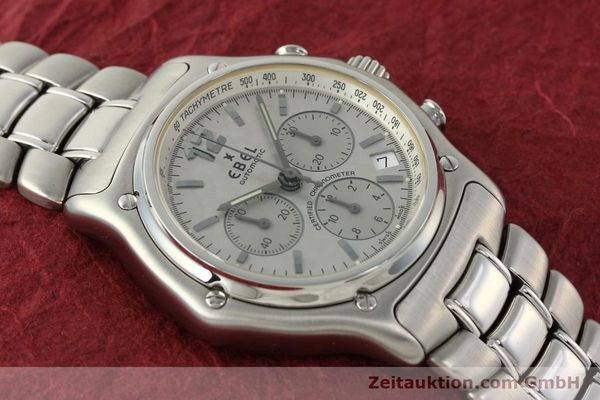Used luxury watch Ebel 1911 chronograph steel automatic Kal. 137 Ref. E9137240  | 142731 13