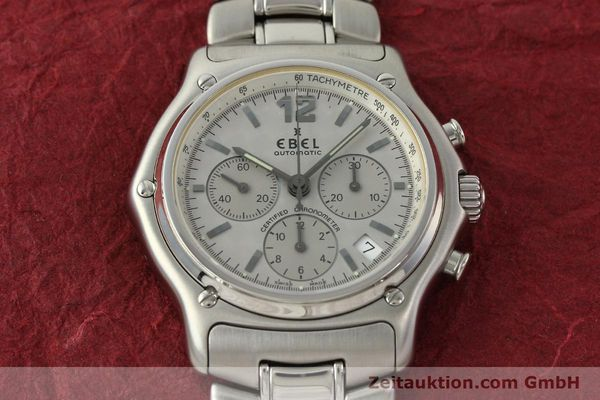 Used luxury watch Ebel 1911 chronograph steel automatic Kal. 137 Ref. E9137240  | 142731 14