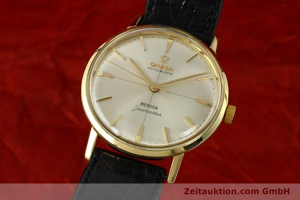 montre de luxe d occasion Omega Seamaster or 18 ct automatique Kal. 552  | 142736 04