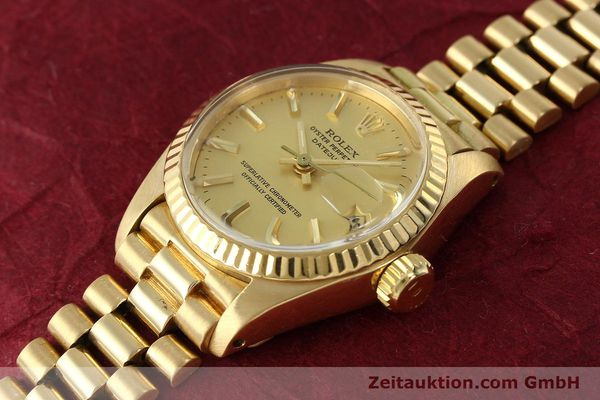 montre de luxe d occasion Rolex Lady Datejust or 18 ct automatique Kal. 2030 Ref. 6917  | 142742 01