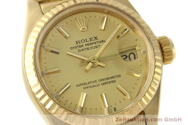 Used luxury watch Rolex Lady Datejust 18 ct gold automatic Kal. 2030 Ref. 6917  | 142742 02