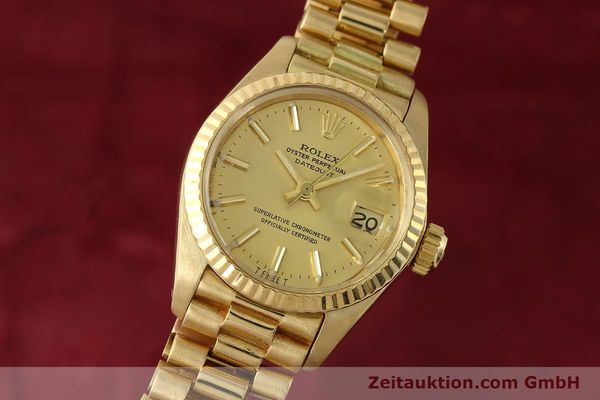 montre de luxe d occasion Rolex Lady Datejust or 18 ct automatique Kal. 2030 Ref. 6917  | 142742 04