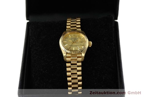 Used luxury watch Rolex Lady Datejust 18 ct gold automatic Kal. 2030 Ref. 6917  | 142742 07
