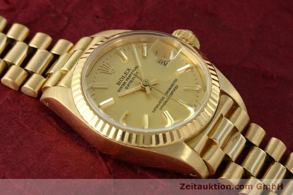 Used luxury watch Rolex Lady Datejust 18 ct gold automatic Kal. 2030 Ref. 6917  | 142742 16