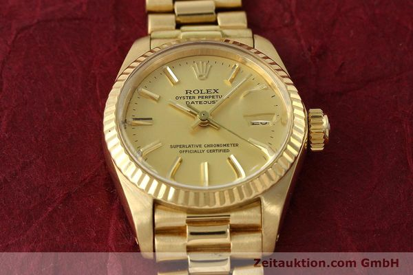 montre de luxe d occasion Rolex Lady Datejust or 18 ct automatique Kal. 2030 Ref. 6917  | 142742 17