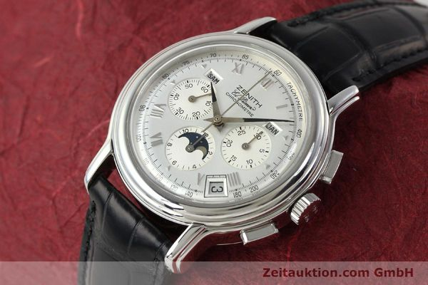 Used luxury watch Zenith Elprimero chronograph steel automatic Kal. 410 Ref. 01 0240 410  | 142744 01