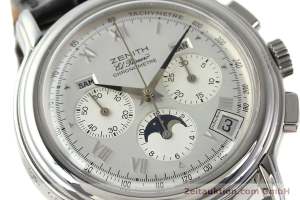 Used luxury watch Zenith Elprimero chronograph steel automatic Kal. 410 Ref. 01 0240 410  | 142744 02
