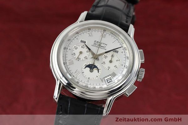 Used luxury watch Zenith Elprimero chronograph steel automatic Kal. 410 Ref. 01 0240 410  | 142744 04