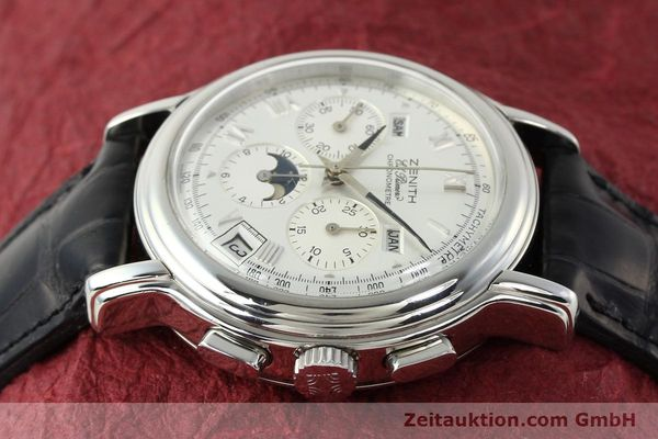 Used luxury watch Zenith Elprimero chronograph steel automatic Kal. 410 Ref. 01 0240 410  | 142744 05