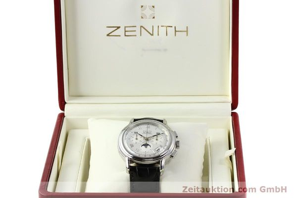 Used luxury watch Zenith Elprimero chronograph steel automatic Kal. 410 Ref. 01 0240 410  | 142744 07