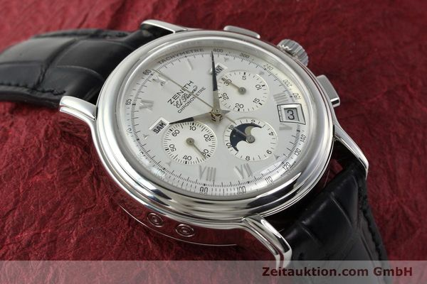 Used luxury watch Zenith Elprimero chronograph steel automatic Kal. 410 Ref. 01 0240 410  | 142744 17