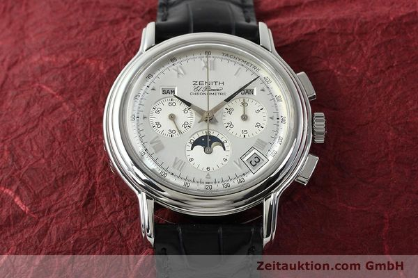 Used luxury watch Zenith Elprimero chronograph steel automatic Kal. 410 Ref. 01 0240 410  | 142744 18