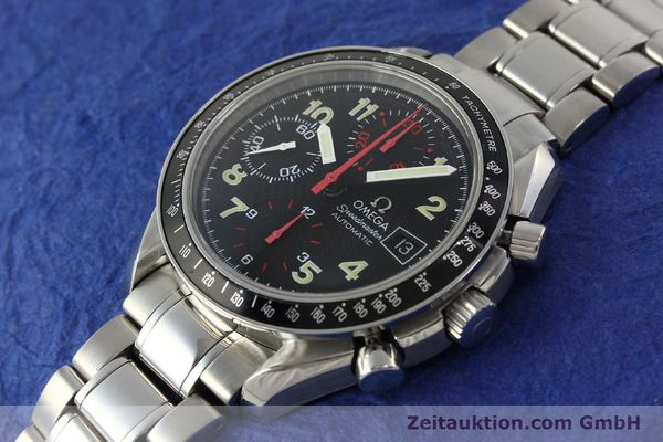 Used luxury watch Omega Speedmaster Date chronograph steel automatic Kal. 1152  | 142745 01