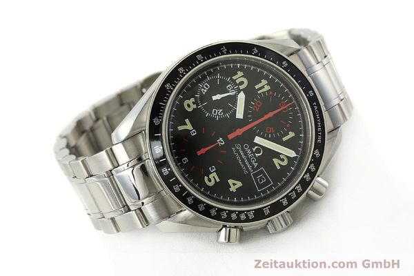 Used luxury watch Omega Speedmaster Date chronograph steel automatic Kal. 1152  | 142745 03