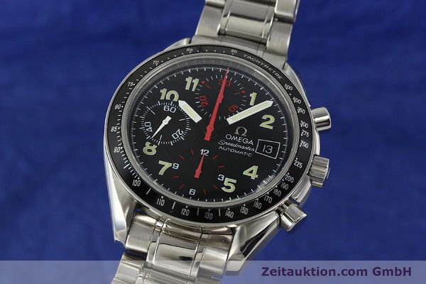 Used luxury watch Omega Speedmaster Date chronograph steel automatic Kal. 1152  | 142745 04