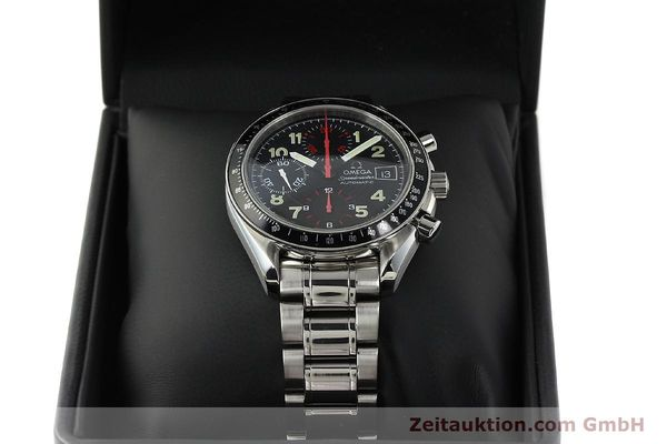 Used luxury watch Omega Speedmaster Date chronograph steel automatic Kal. 1152  | 142745 07