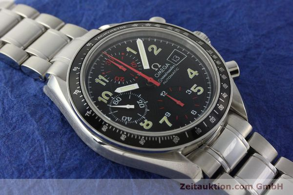 Used luxury watch Omega Speedmaster Date chronograph steel automatic Kal. 1152  | 142745 15