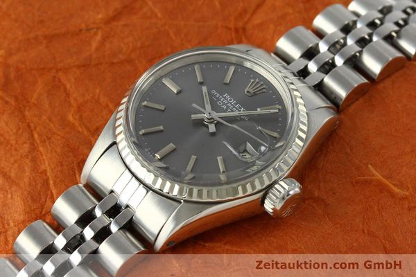 Used luxury watch Rolex Lady Date steel / white gold automatic Kal. 2030 Ref. 6517  | 142754 01
