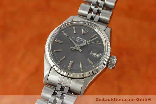 Used luxury watch Rolex Lady Date steel / white gold automatic Kal. 2030 Ref. 6517  | 142754 04