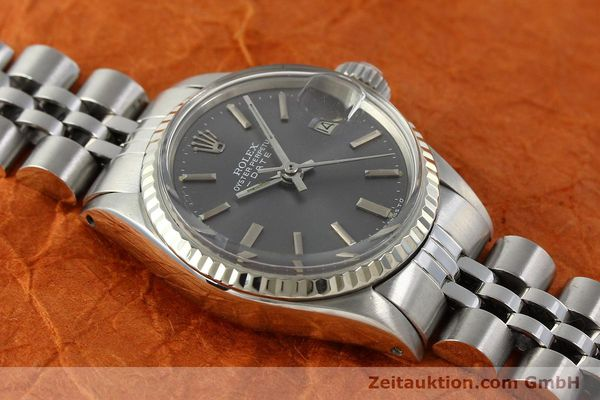 Used luxury watch Rolex Lady Date steel / white gold automatic Kal. 2030 Ref. 6517  | 142754 15