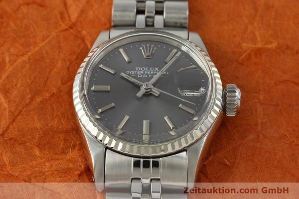 Used luxury watch Rolex Lady Date steel / white gold automatic Kal. 2030 Ref. 6517  | 142754 16
