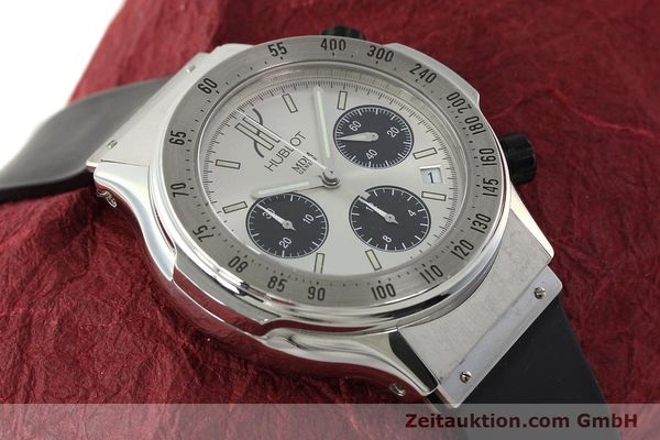 Used luxury watch Hublot Super B chronograph steel automatic Kal. MDM ETA 2892A2 Ref. 1920.1  | 142762 14