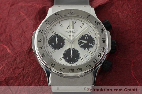 Used luxury watch Hublot Super B chronograph steel automatic Kal. MDM ETA 2892A2 Ref. 1920.1  | 142762 15