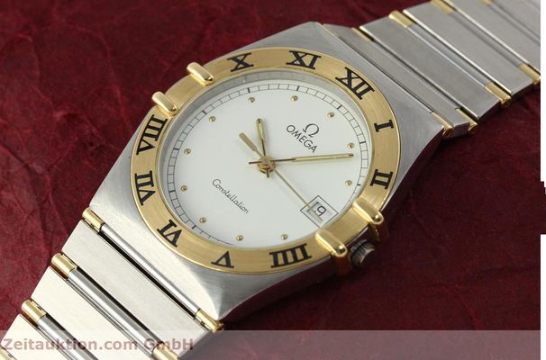 Used luxury watch Omega Constellation steel / gold quartz Kal. ETA 255.461  | 142763 01