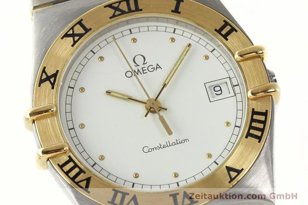 Used luxury watch Omega Constellation steel / gold quartz Kal. ETA 255.461  | 142763 02