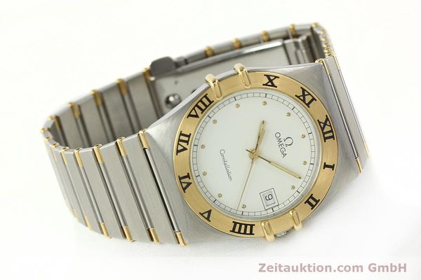 Used luxury watch Omega Constellation steel / gold quartz Kal. ETA 255.461  | 142763 03