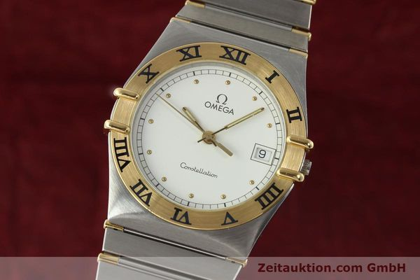 Used luxury watch Omega Constellation steel / gold quartz Kal. ETA 255.461  | 142763 04