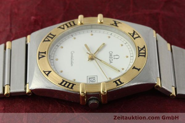 Used luxury watch Omega Constellation steel / gold quartz Kal. ETA 255.461  | 142763 05