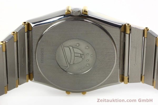 Used luxury watch Omega Constellation steel / gold quartz Kal. ETA 255.461  | 142763 09