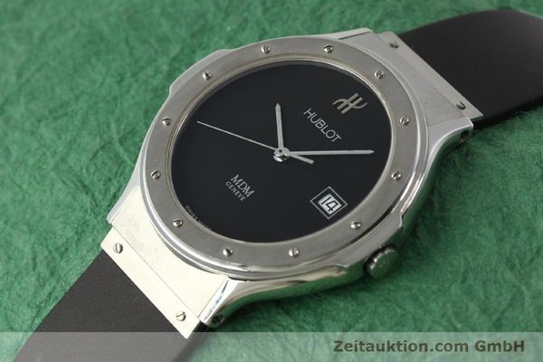 Used luxury watch Hublot MDM steel quartz Kal. ETA 955412 Ref. 15211001  | 142765 01