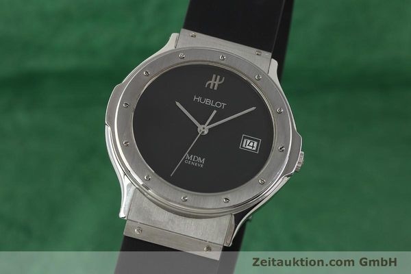 Used luxury watch Hublot MDM steel quartz Kal. ETA 955412 Ref. 15211001  | 142765 04
