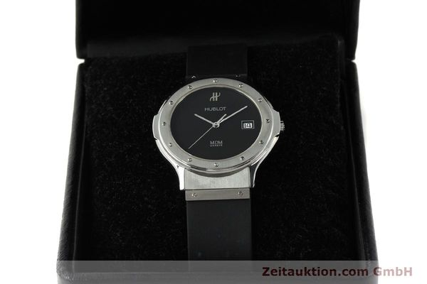 Used luxury watch Hublot MDM steel quartz Kal. ETA 955412 Ref. 15211001  | 142765 07