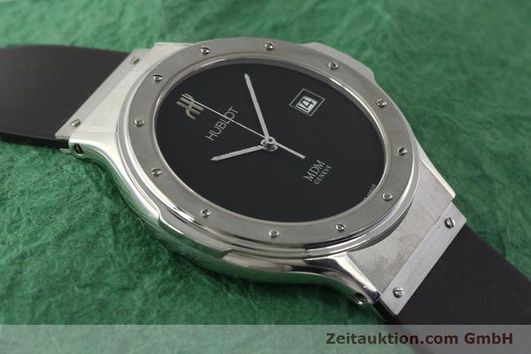Used luxury watch Hublot MDM steel quartz Kal. ETA 955412 Ref. 15211001  | 142765 13