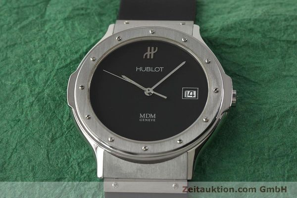 Used luxury watch Hublot MDM steel quartz Kal. ETA 955412 Ref. 15211001  | 142765 14