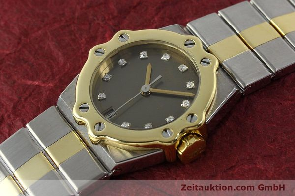 Used luxury watch Chopard St. Moritz steel / gold quartz Kal. ETA 956.112 Ref. SM28749  | 142767 01