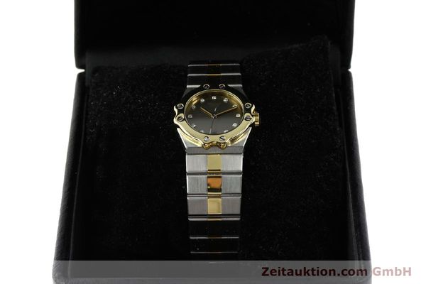 Used luxury watch Chopard St. Moritz steel / gold quartz Kal. ETA 956.112 Ref. SM28749  | 142767 07